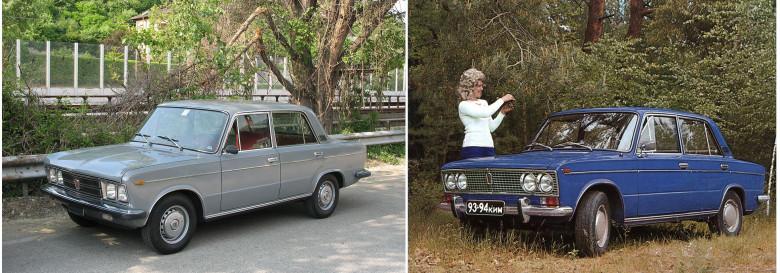 06. Fiat-125, 1967 год и ВАЗ 2103, 1972 год.