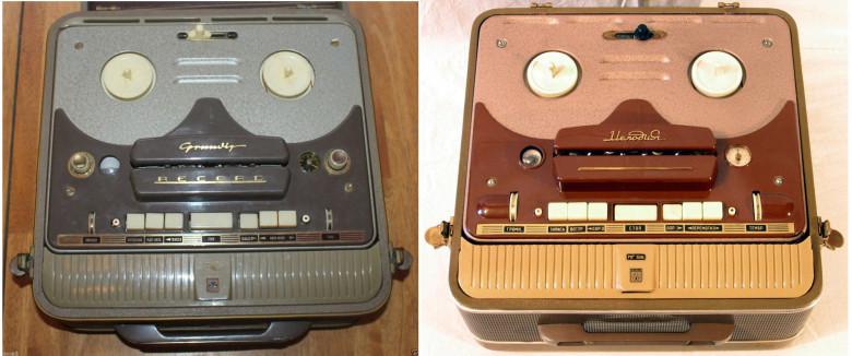 09. Grundig TK820, 1955 год и Мелодия МГ-56, 1956 год.