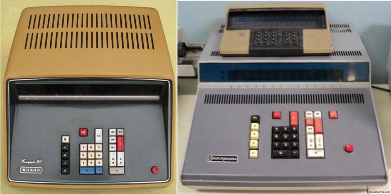 10. Sharp Compet CS-30A, 1967 год и Ðлектроника ДД, 1968 год.