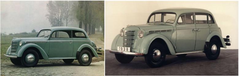 02. Opel Kadett, 1937 год и Москвич-400, 1946 год.