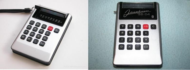 12. Sharp EL-805, 1973 год и Ðлектроника БЗ-04, 1974 год.