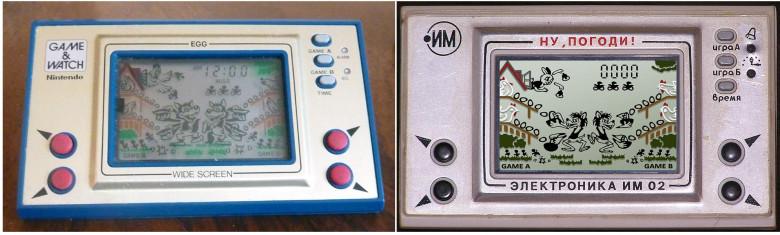 """14. Nintendo, EGG, 1981 год и """"Ну, погоди!"""", 1984 г."""