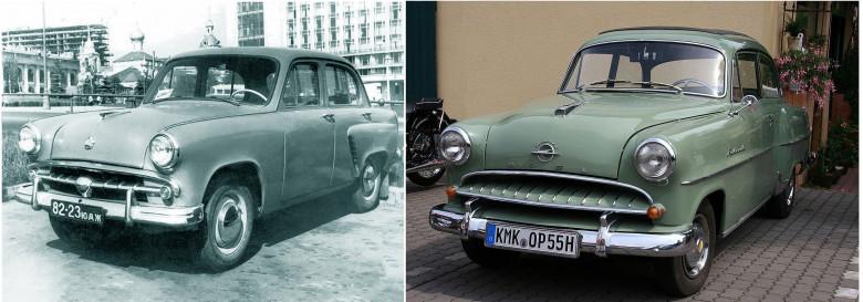 03. Opel Olympia Rekord (справа), 1947 год и Москвич-402, 1956 год (слева).