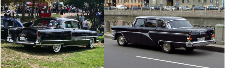 05. Packard Patrician, 1956 год и Чайка, 1959 год.