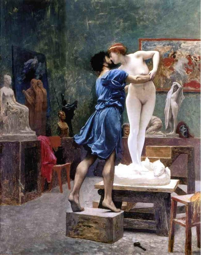 pygmalion and the awakening Pygmalion, who has carved out the beautiful figure of galatea he gets several offers for its purchase, but is so in love with the work that he refuses to part with it.