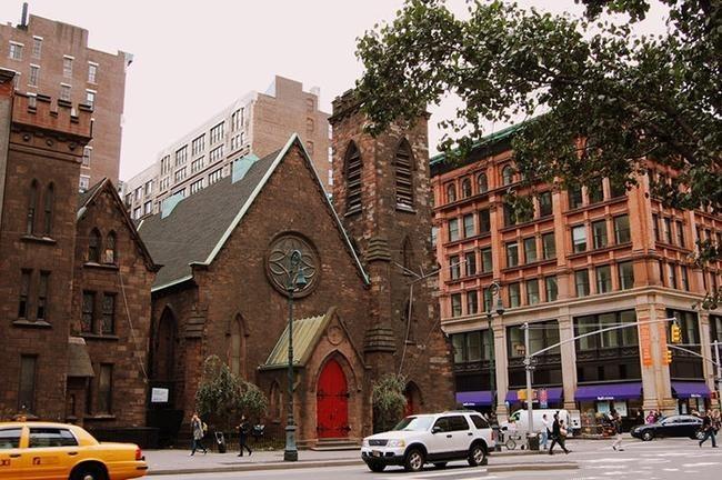 НОЧНОЙ КЛУБ, ТОРГОВЫЙ ЦЕНТР и ФИТНЕСС-ЗАЛ- Церковь Святого Причастия в Нью-Йорке, США