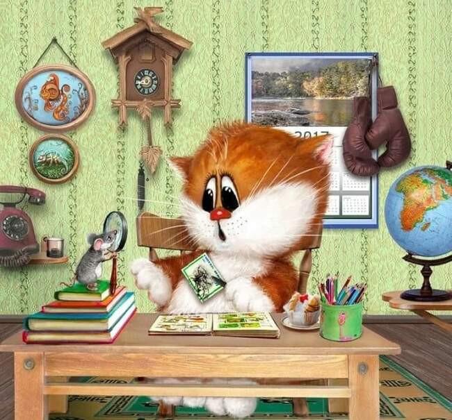 Кошачий арт от Алексея Долотова: забавные иллюстрации ...