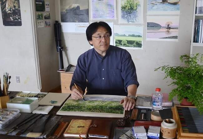 Зимние акварели Абе Тошиюки (Abe Toshiyuki).