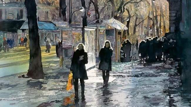 Акварельный реализм Джона Салминена: завораживающие городские пейзажи американского художника
